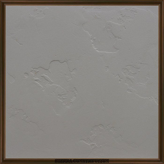 Faux Painting sample showing a 2x2 piece of drywall after its been textured, primed and painted, is recommended that we do the drywall repair and patching before we start doing any new texture.