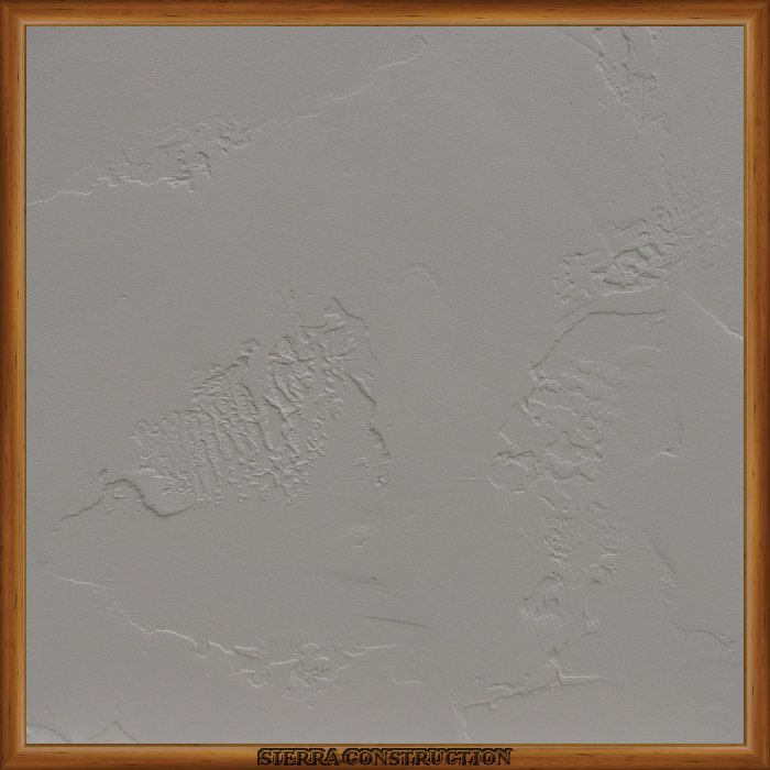 Faux Painting sample showing a 2x2 piece of drywall after its been textured, primed and painted.