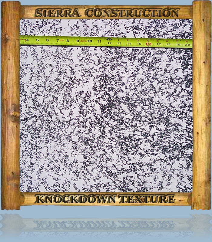 Knock Down texture sample, this texture was one of the most used textures in residential construction in the colorado mountain area