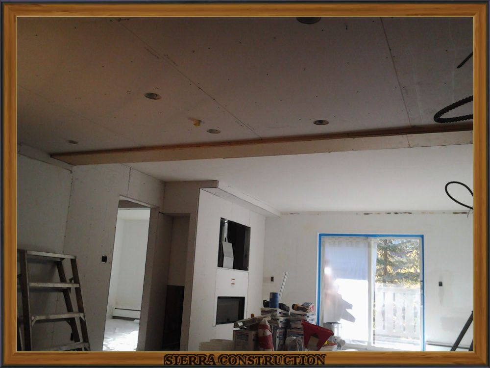 Picture showing after the drywall have been installed and the patches repaired.